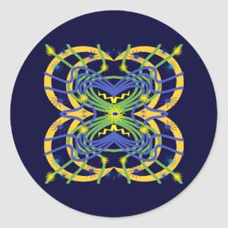 Elemental Abstract Classic Round Sticker