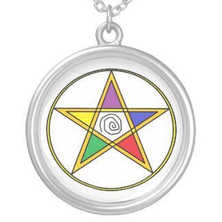 Elemental Colors Pentacle Necklace