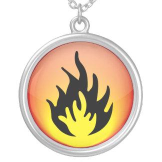 Elemental - fuego colgante redondo