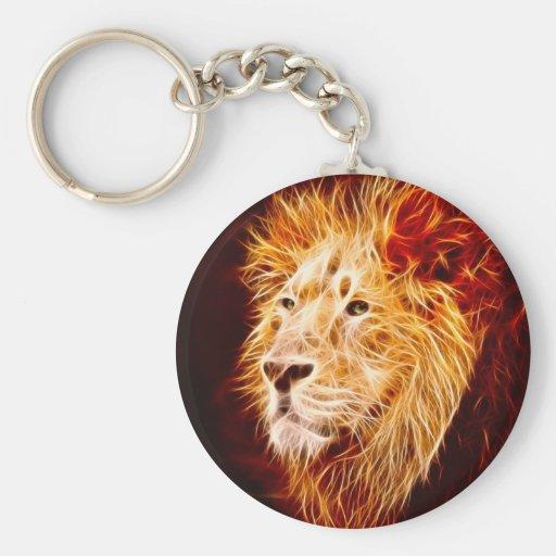 Elemental lion keychains