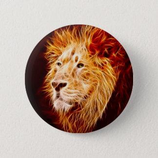 Elemental lion pinback button