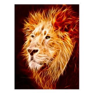 Elemental lion post card