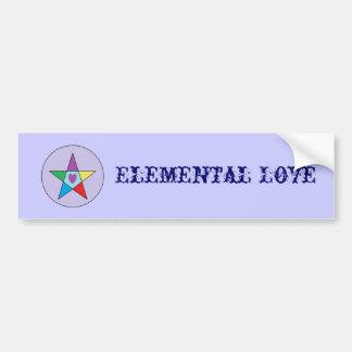 Elemental Love Bumper Sticker