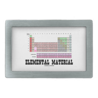 Elemental Material (Periodic Table Of Elements) Rectangular Belt Buckles