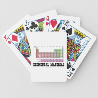 Elemental Material (Periodic Table Of Elements) Bicycle Playing Cards