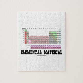 Elemental Material (Periodic Table Of Elements) Puzzle