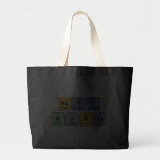 Elemental Navy Nukes Tote Bags