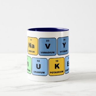 Elemental Navy Nukes Two-Tone Coffee Mug