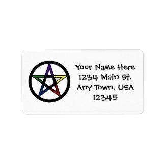 Elemental Pentacle Labels