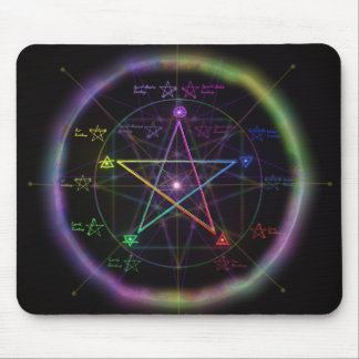 """Elemental Power"" Pentagram Mousepads"