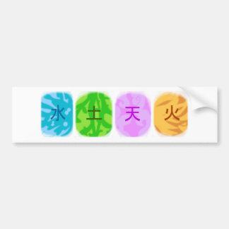 Elemental symbols bumper sticker