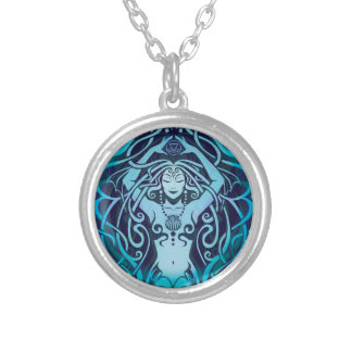 Elemental Water Spirit, Mermaid, Sea Nymph Silver Plated Necklace