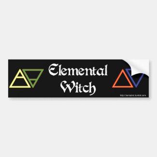 Elemental Witch bumper sticker