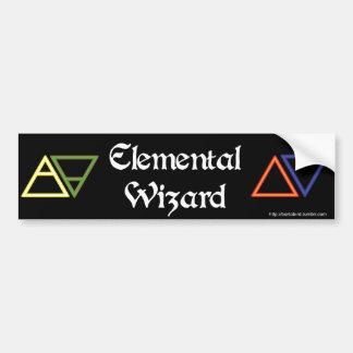 Elemental Wizard bumper sticker