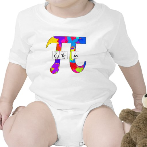 Elementally Cute as Pi (butterfly) Baby Bodysuits