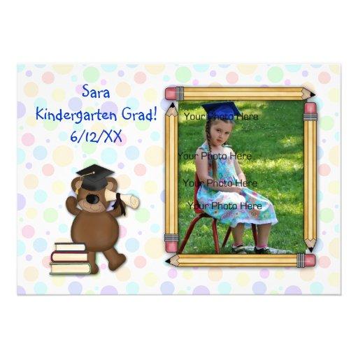 Elementary Graduation Bear Custom Announcements