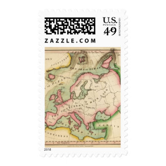 Elementary Map Postage Stamps