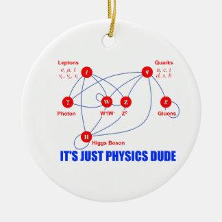 Elementary Particles of Physics Higgs Boson Quarks Ceramic Ornament