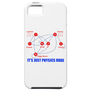 Elementary Particles of Physics Higgs Boson Quarks iPhone SE/5/5s Case