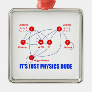 Elementary Particles of Physics Higgs Boson Quarks Metal Ornament