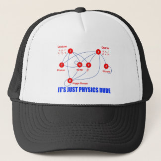 Elementary Particles of Physics Higgs Boson Quarks Trucker Hat