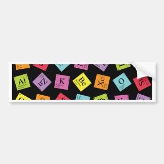 Elementary Periodic (Dark) Bumper Stickers
