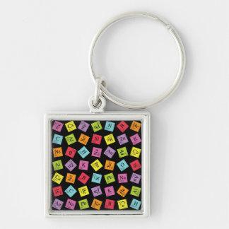 Elementary Periodic (Dark) Keychain
