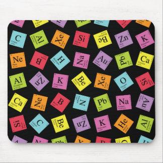 Elementary Periodic (Dark) Mouse Pad