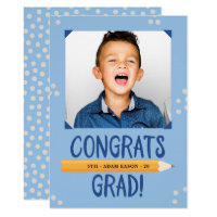 Elementary School Boy Graduation Invitation