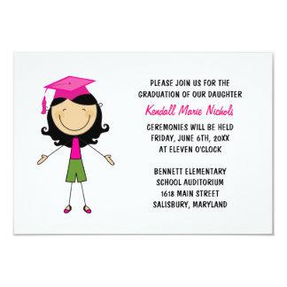 "Elementary School Graduation Announcements 3.5"" X 5"" Invitation Card"