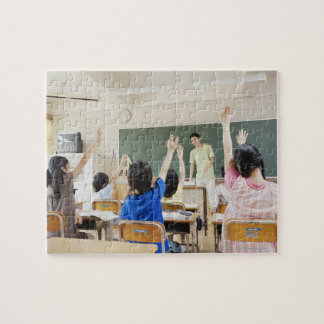 Elementary school students at school 2 jigsaw puzzle