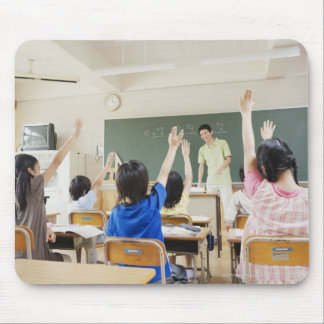 Elementary school students at school 2 mouse pad