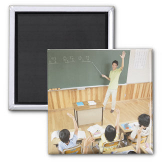 Elementary school students at school magnet