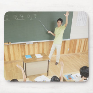 Elementary school students at school mouse pad