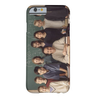 Elementary school students standing behind barely there iPhone 6 case