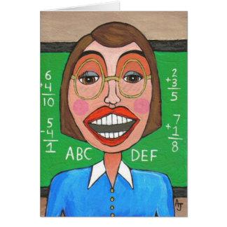 Elementary School Teacher - greeting card