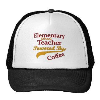 Elementary School Teacher Powered By Coffee Trucker Hat