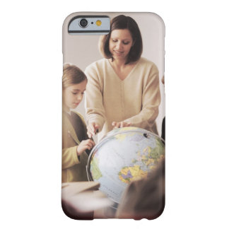 Elementary school teacher showing globe to barely there iPhone 6 case