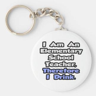 Elementary School Teacher, Therefore I Drink Key Chain