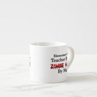 Elementary School Teacher/Zombie Hunter Espresso Cup
