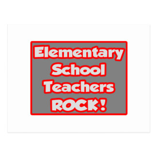 Elementary School Teachers Rock! Post Cards