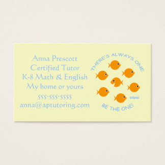 Elementary School Tutor with Inspirational Motto Business Card