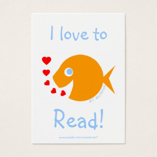 Elementary Student Reading Achievement Bookmark Business Card