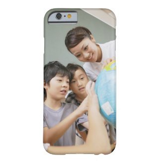 Elementary students and teacher looking at barely there iPhone 6 case