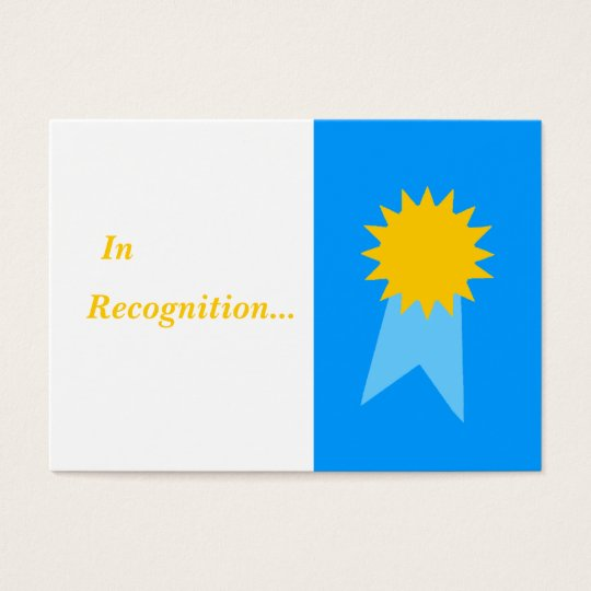 Elementary Teacher Blue Ribbon Student Awards Business Card
