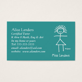 Teaching Business Cards & Templates | Zazzle