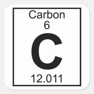 Elemento 006 - C - Carbono (lleno) Pegatina Cuadrada