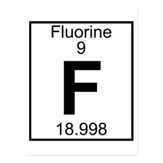 Elemento 009 - F - Flúor (lleno) Postales