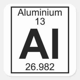 Elemento 013 - Al - aluminio (lleno) Pegatina Cuadrada