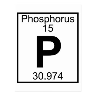 Elemento 015 - P - Fósforo (lleno) Postal